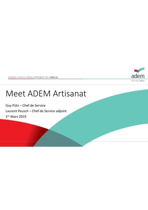 Présentation ADEM event MeetADEM Artisanat du 1er mars 2019
