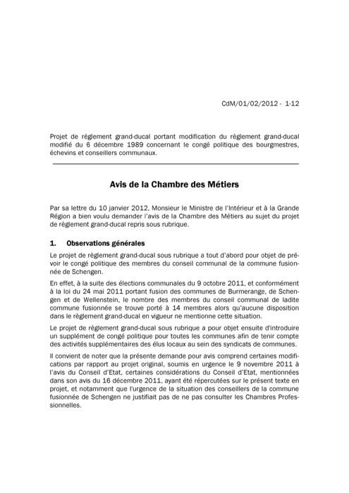 Avis: Congé politique des bourgmestres, échevins et conseillers communaux