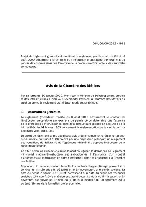 Avis: Conditions de délivrance de l'agrément ministériel d'apprenti-instructeur
