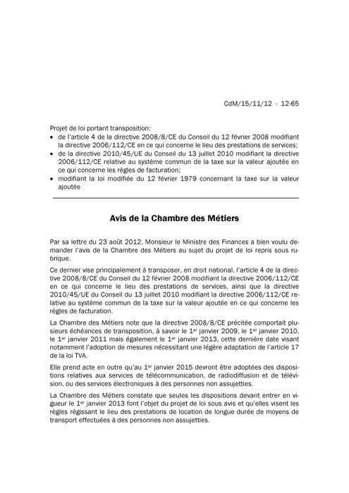 Avis: Modifications relatives à la taxe sur la valeur ajoutée