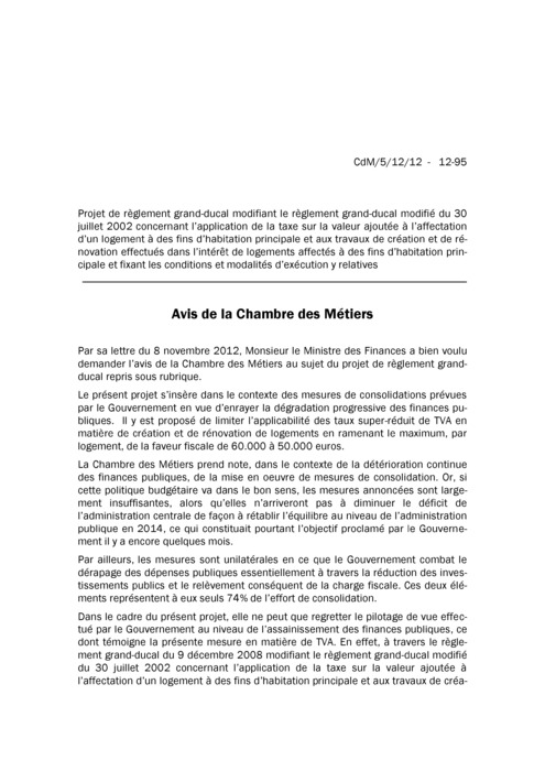 Avis: TVA Logement