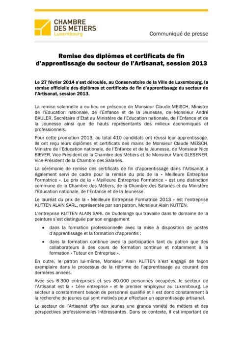 Communiqué Remise  CATP 2013 FR