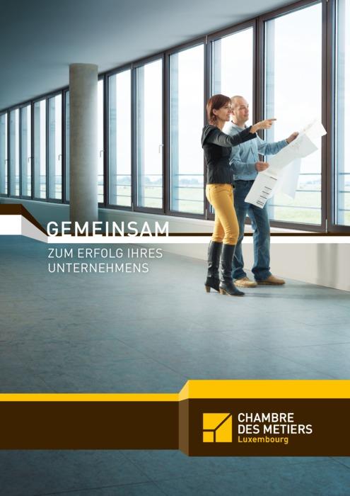 Broschüre Chambre des Métiers, deutschsprachige Ausgabe