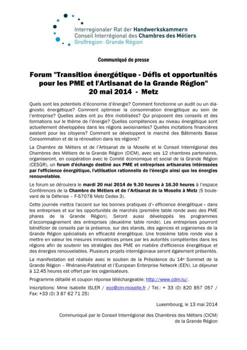 Communiqué Forum CICM Mai 2014 FR