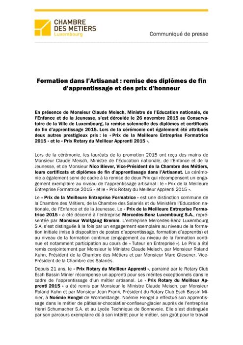 Communiqué Remise DAP 2015.2