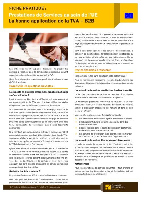 UE: application de la TVA – B2B