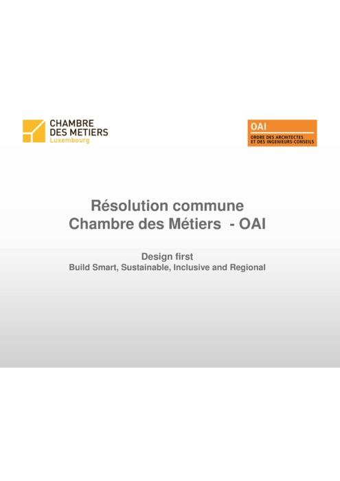 Partenariat OAI-CdM: présentation du 13 décembre 2017