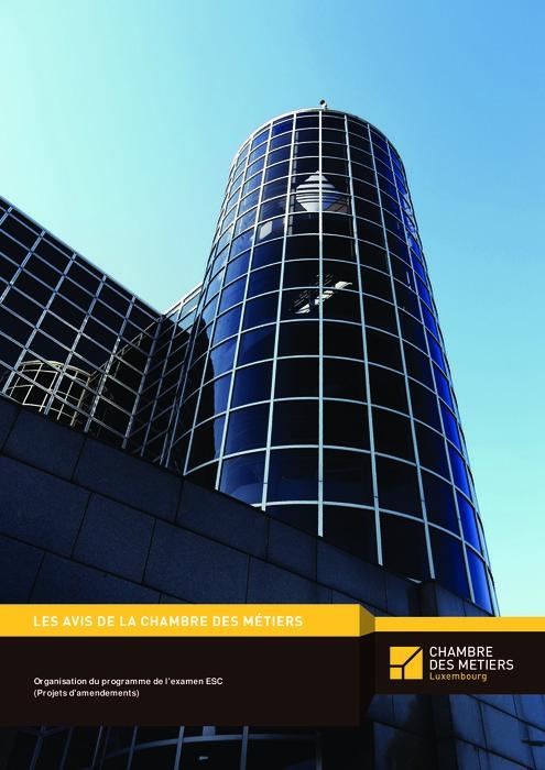 Organisation du programme de l'examen ESC (Projets d'amendements)