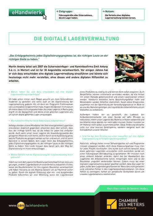 Die digitale Lagerverwaltung