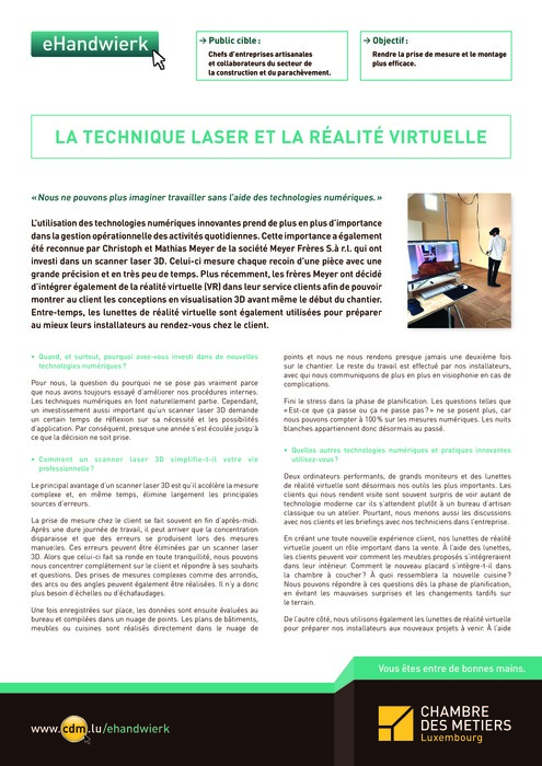 La technique laser et la réalité virtuelle