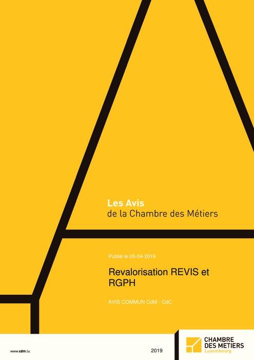 Revalorisation REVIS et RGPH