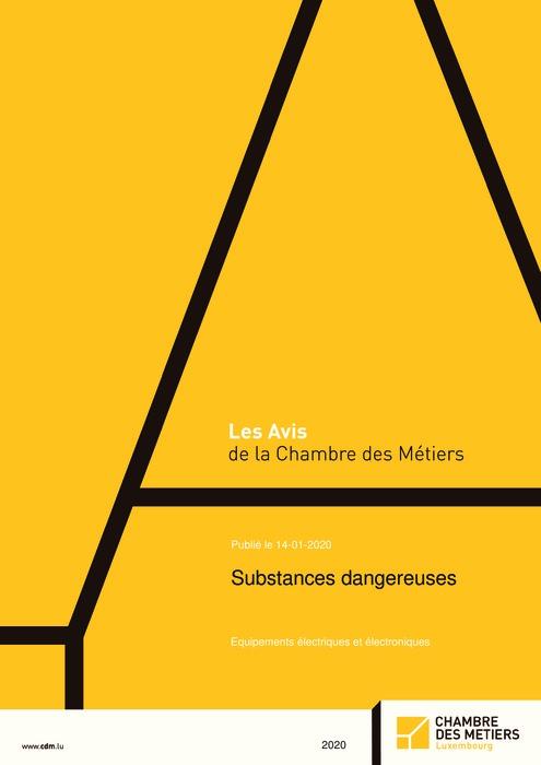 Substances dangereuses – Equipements électriques et électrotechniques