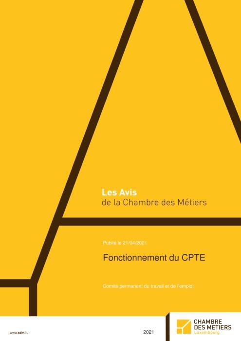 Fonctionnement du CPTE - Comité permanent du travail et de l'emploi - Avis commun de la Chambre des Métiers et de la Chambre de Commerce