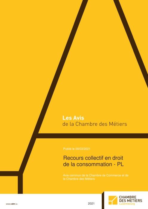 Recours collectif en droit de la consommation-PL - Avis commun de la Chambre des Métiers et de la Chambre de Commerce