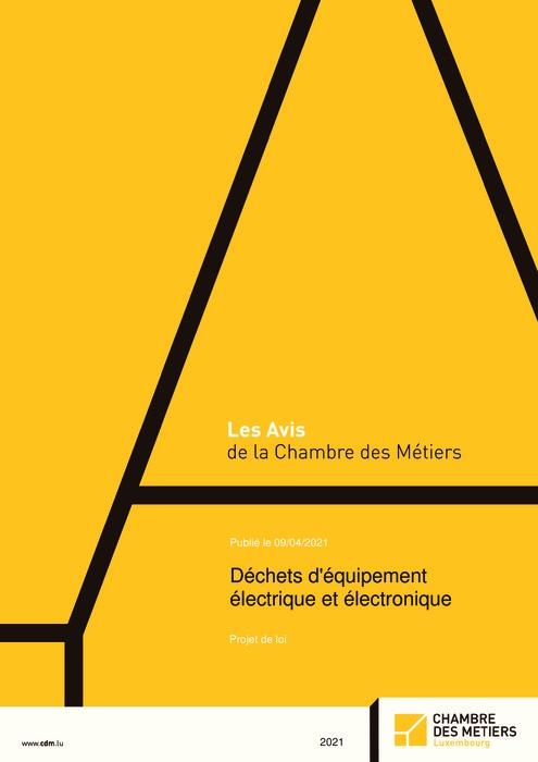 Déchets d'équipements électriques et électroniques - Projet de loi