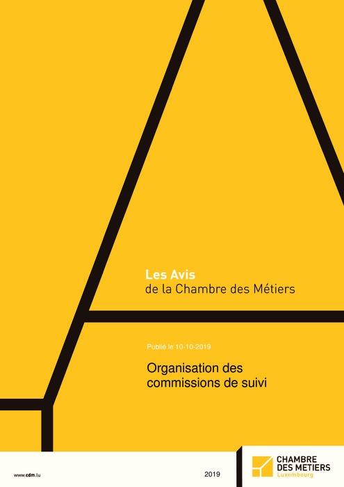 Organisation des commissions de suivi
