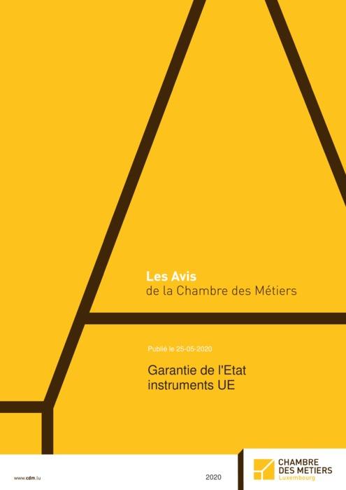 Garantie de l'Etat instruments UE