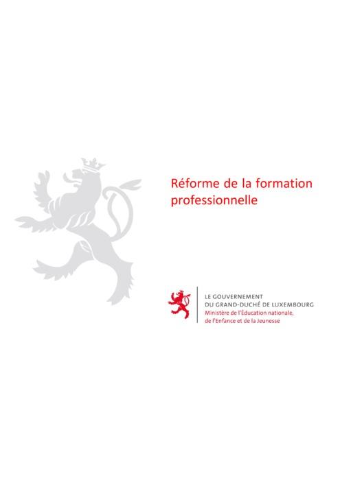 La réforme de la formation professionnelle 2019