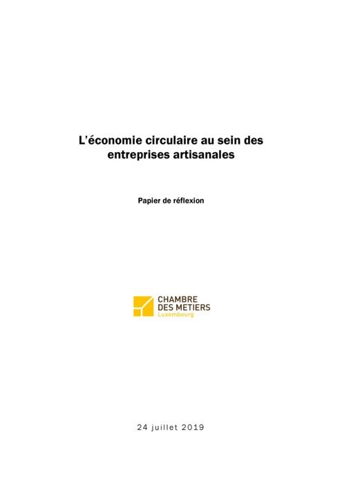 L'économie circulaire au sein des entreprises artisanales
