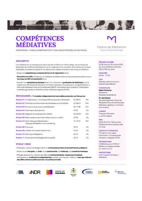 Compétences médiatives - Faciliter la communication, prévenir et résoudre des conflits