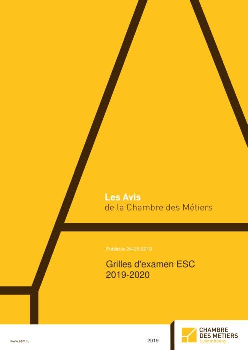 Grilles d'examen ESC 2019-2020