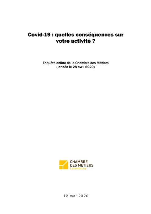 Covid-19 : quelles conséquences sur votre activité ?