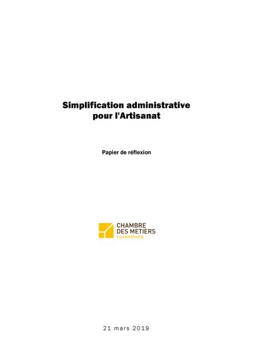 Simplification administrative pour l'Artisanat
