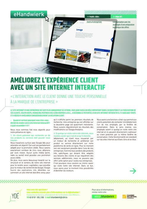Améliorez l'expérience client avec un site internet interactif