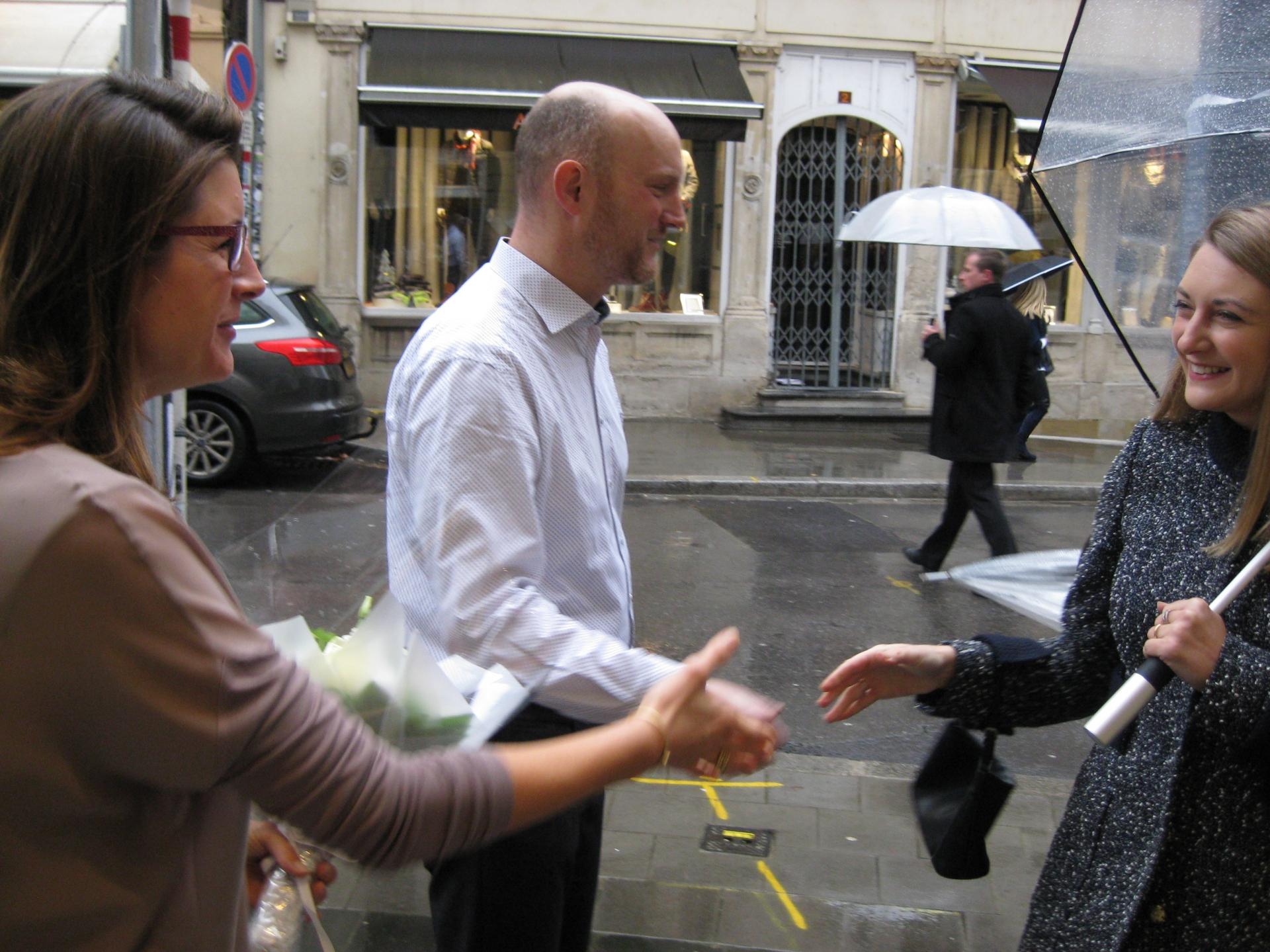 Visite de la bijouterie Goedert par le Grand-Duc héritier et la Grande-Duchesse héritière 20.11.2015