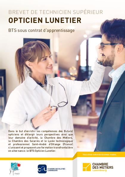 Bts opticien lunetier sous contrat d 39 apprentissage - Contrat d apprentissage chambre des metiers ...