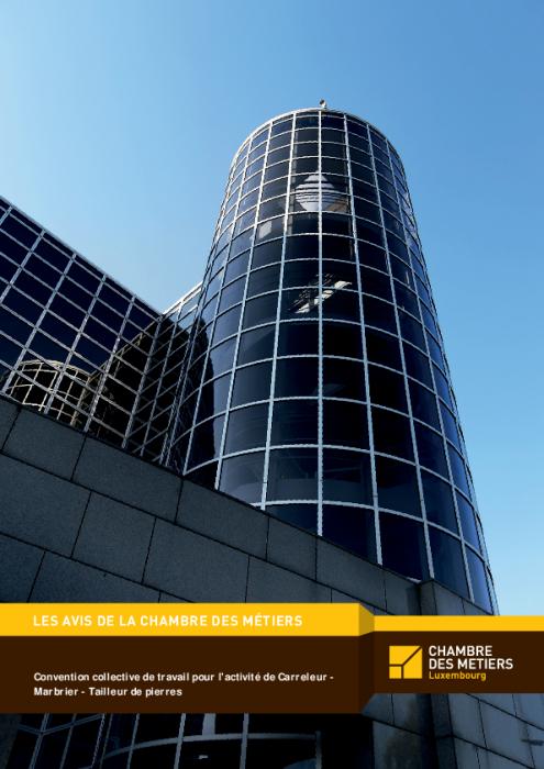 Convention collective de travail pour l'activité de Carreleur - Marbrier - Tailleur de pierres