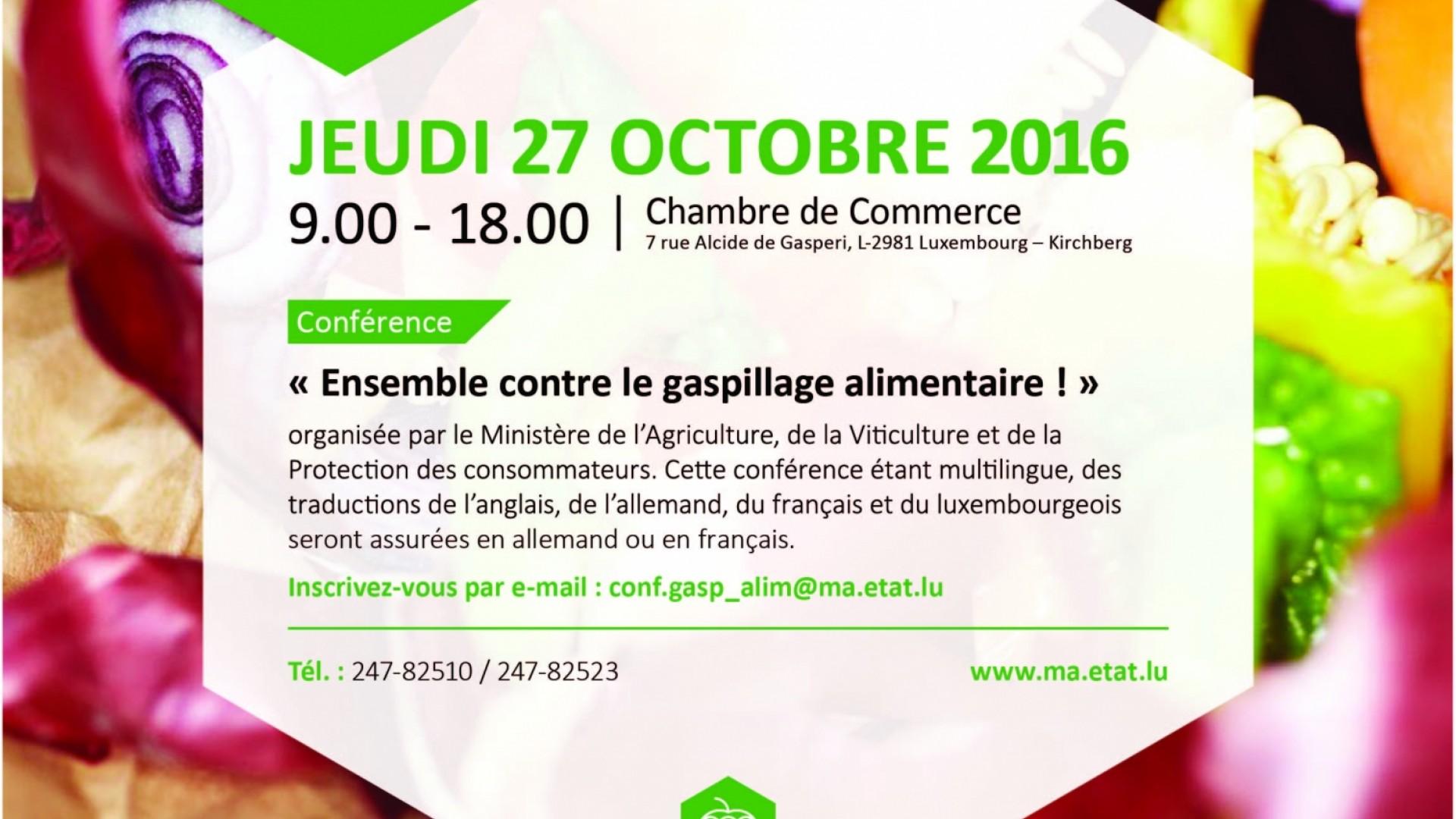 Conf rence du ensemble contre le gaspillage - Chambre de commerce luxembourg apprentissage ...