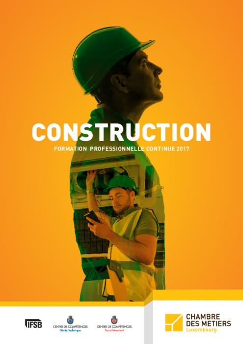 Formation Continue 2017 Construction Chambre Des M Tiers