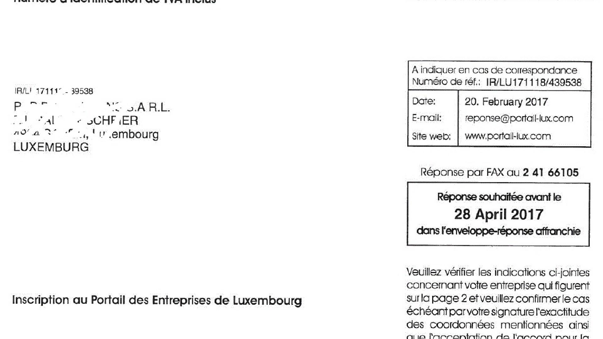 Portail des entreprises luxembourg