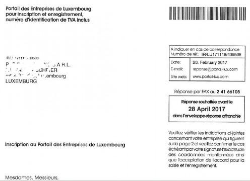 Répertoire des entreprises luxembourgeoises