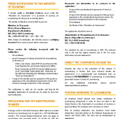 Factsheet: Provision of services in Luxembourg - Formalities