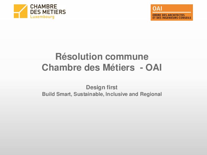 Partenariat oai cdm pr sentation du 13 d cembre 2017 for Chambre metiers 13