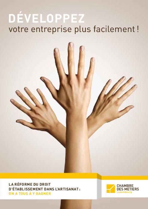 Dépliant: La réforme du droit d'établissement